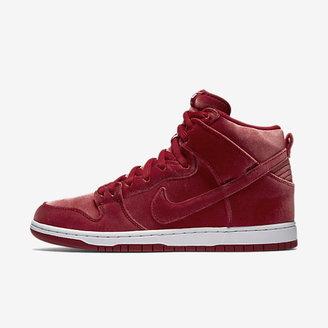 Nike SB Dunk High Premium 'Red Velvet' Men's Skateboarding Shoe $110 thestylecure.com