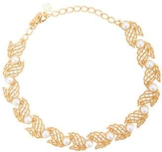 Oscar de la Renta pearl-embellished necklace