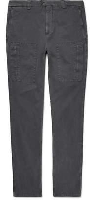 Brunello Cucinelli Stretch-Cotton Cargo Trousers - Gray