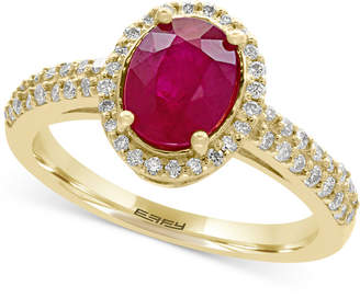 Effy Amore Certified Ruby (1-3/8 ct. t.w.) and Diamond (1/3 ct. t.w.) Ring in 14k Gold