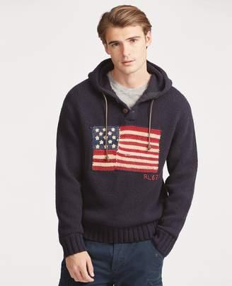 Ralph Lauren Flag Wool-Blend Hoodie