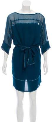 Diane von Furstenberg Woven Mini Dress