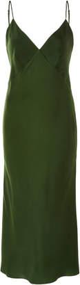 Issa Olivia von Halle Silk-Satin Midi Dress