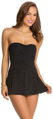 Gottex Lattice Bandeau Swim Dress 8123955 $168 thestylecure.com