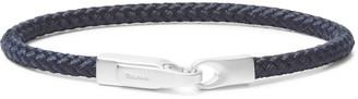 Miansai Sterling Silver And Cord Bracelet