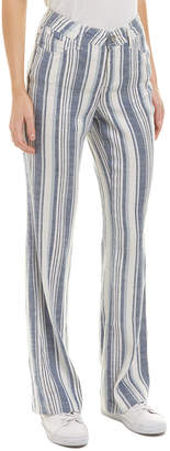 NYDJ Waikiki Stripe Linen-Blend Trouser