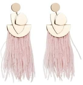 MANGO Feather earrings