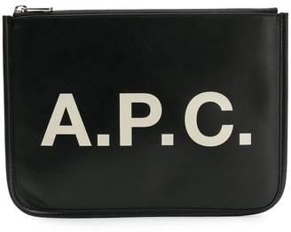 A.P.C. logo clutch bag