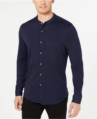 Tasso Elba Men Knit Band-Collar Shirt