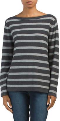 Striped Hi-lo Ottoman Sweater