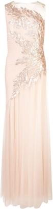 Tadashi Shoji embellished tulle skirt gown