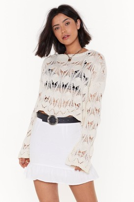 c1b7dfb54 Nasty Gal Where There's a Frill Linen Mini Skirt
