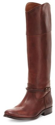 Frye Melissa Seam Leather Knee Boot, Brown $428 thestylecure.com