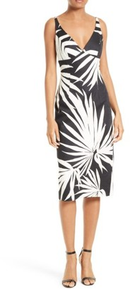 Women's Milly Liz Palm Print Sheath Dress $385 thestylecure.com