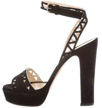 Bionda Castana Laser Cut Platform Sandals