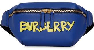 Burberry Medium Graffiti Print Leather Bum Bag