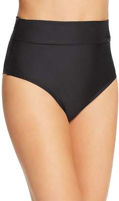 Athena Fold-Over High-Waist Bikini Bottom
