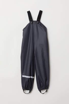 H&M Fleece-lined Rain Pants - Blue