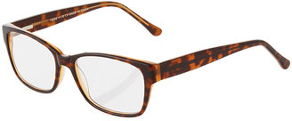A.J. Morgan Basin Rectangular Acetate Readers, Tortoise Brown $36 thestylecure.com