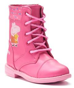 Peppa Pig Toddler Girls' Combat Boots $49.99 thestylecure.com