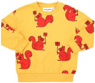 Mini Rodini Squirrel Printed Cotton Sweatshirt