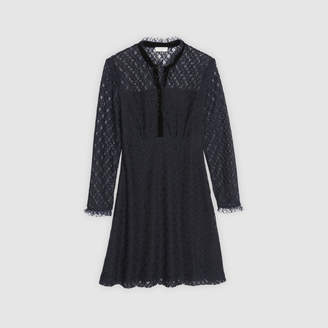 Sandro Lace long-sleeved dress
