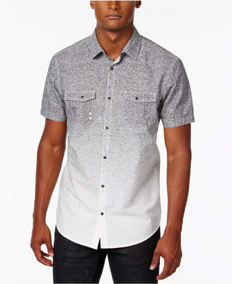 INC International Concepts I.n.c. Men's Dip-Dyed Heathered Shirt, Created for Macy's