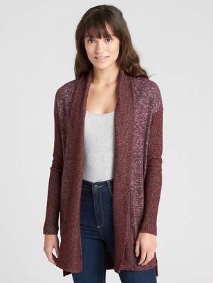 Gap Softspun Open-Front Shawl Collar Cardigan Sweater