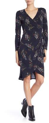 Joe Fresh Long Sleeve Front Wrap Dress