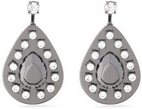 Maison Margiela Gunmetal-Tone Crystal Earrings