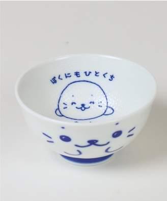 Mother garden しろたん くっつきにくいお茶碗 しろたんの大きな顔柄【406-86644】(C)FDB