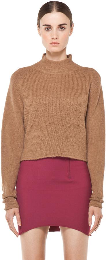 Acne Darko Alpaca Knit Sweater in Camel Beige