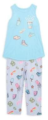 Petit Lem Girl's Two-Piece Pop Star Long Pajamas