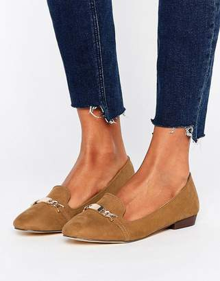 Oasis Slip On Loafers With Metal Bar $38 thestylecure.com