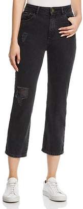 DL1961 Jerry Vintage High Rise Straight Jeans in Stone
