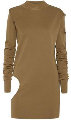 Rick Owens Convertible Cutout Wool Tunic Sweater