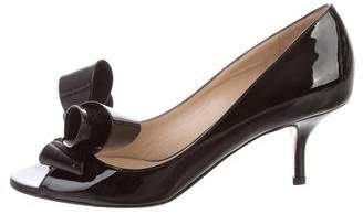 Valentino Peep-Toe Bow Pumps