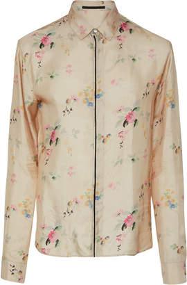 Haider Ackermann Floral-Print Long Sleeve Shirt