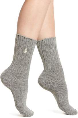 Ralph Lauren Wool Rib Boot Socks
