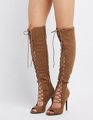 Lace-Up Over-The-Knee Boots $48.99 thestylecure.com