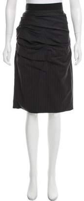 Dolce & Gabbana Gathered Knee-Length Skirt w/ Tags
