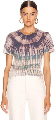 Raquel Allegra Slim Tee in Violet Tie Dye | FWRD