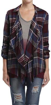 Blu Pepper Plaid Cardi