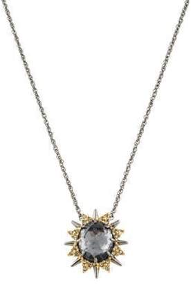 Alexis Bittar Elements Spiked Crystal Pendant Necklace brass Elements Spiked Crystal Pendant Necklace