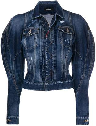 DSQUARED2 exaggerated-sleeve denim jacket