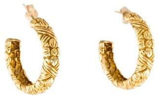 Stephen Dweck 18K Textured Hoop Earrings