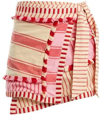 Dodo Bar Or - Hoza Embroidered Cotton Wrap Skirt - Womens - Pink Multi