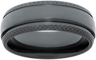 JCPenney FINE JEWELRY Mens Black Zirconium Wedding Band