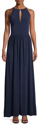 MICHAEL Michael Kors Jersey Halter-Neck Maxi Dress