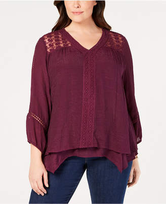 Style&Co. Style & Co Plus Size Layered-Hem Top